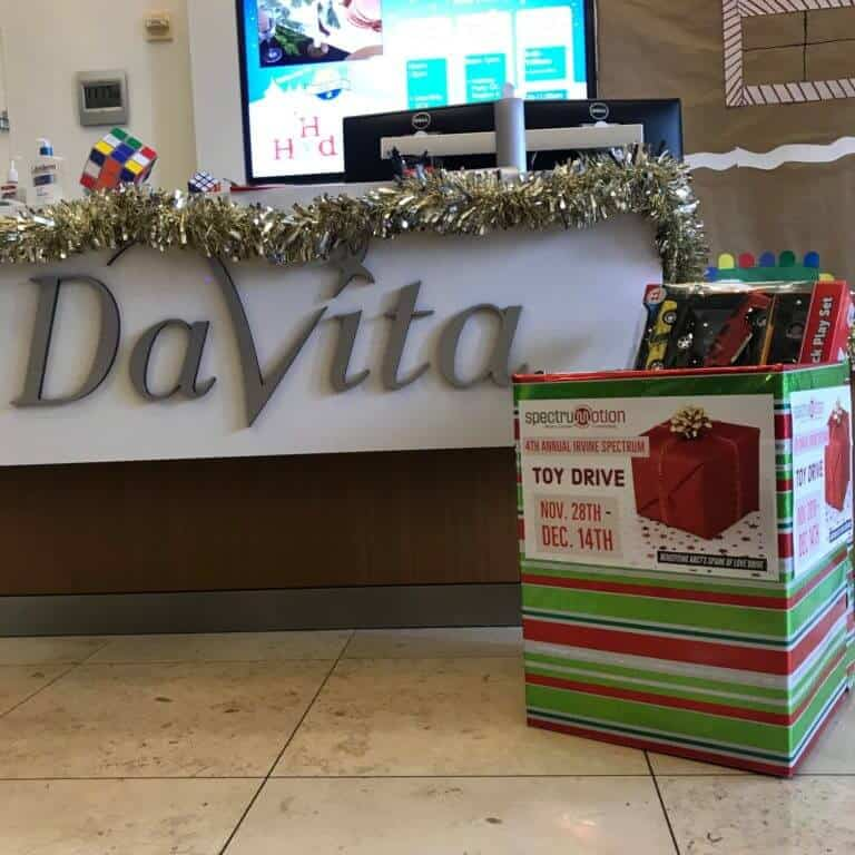 DaVita Irvine Toy Drive Donations