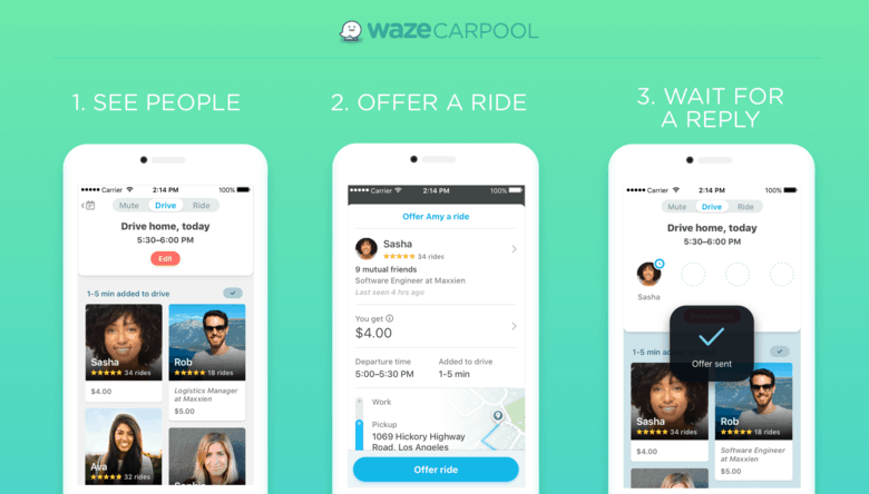 Offering a Waze Ride