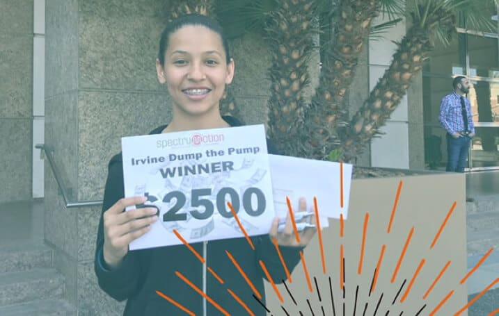 Irvine Dump the Pump Winner