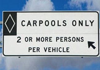 Carpool Freeway Sign
